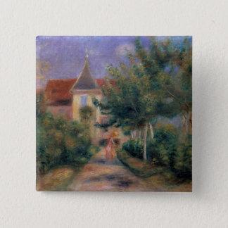 Pierre ein Renoir | Renoirs Haus bei Essoyes Quadratischer Button 5,1 Cm