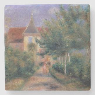 Pierre ein Renoir | Renoirs Haus bei Essoyes Steinuntersetzer