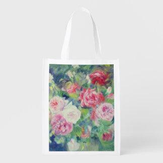 Pierre ein Renoir | Rosen 2 Wiederverwendbare Einkaufstasche