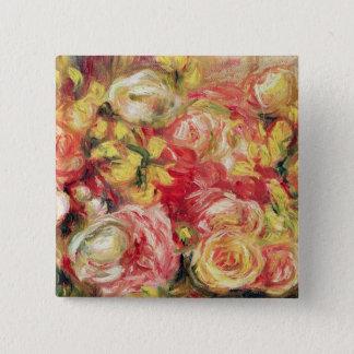 Pierre ein Renoir | Rosen Quadratischer Button 5,1 Cm
