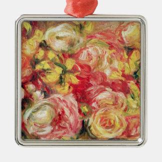 Pierre ein Renoir   Rosen Silbernes Ornament