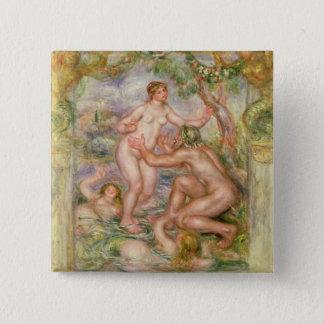 Pierre ein Renoir | Saone, der in die Rhône fließt Quadratischer Button 5,1 Cm