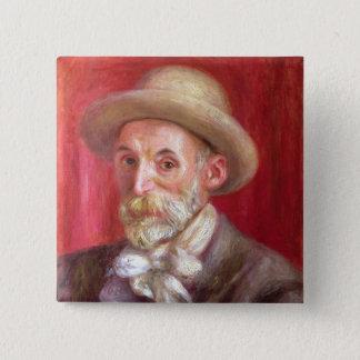 Pierre ein Renoir | Selbstporträt Quadratischer Button 5,1 Cm