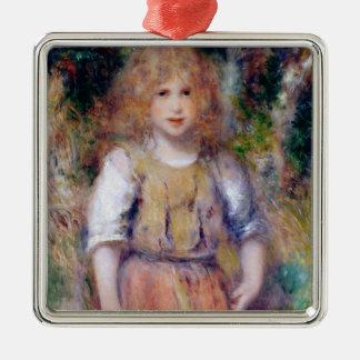 Pierre ein Renoir | Sinti und Roma-Mädchen Silbernes Ornament