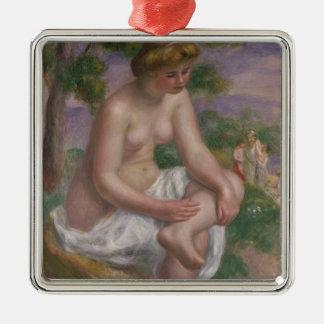 Pierre ein Renoir   Sitzbadegast in einer Silbernes Ornament