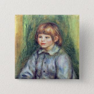 Pierre ein Renoir | Sitzporträt von Claude Renoir Quadratischer Button 5,1 Cm
