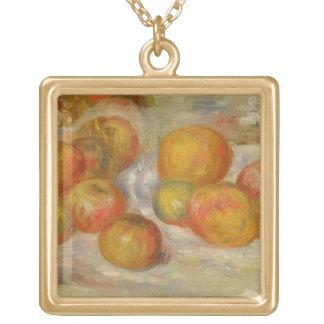 Pierre ein Renoir | Stillleben mit Äpfeln Vergoldete Kette