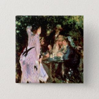 Pierre ein Renoir | unter den Bäumen, de la Quadratischer Button 5,1 Cm
