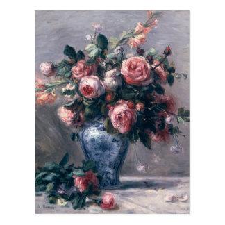 Pierre ein Renoir   Vase Rosen Postkarte