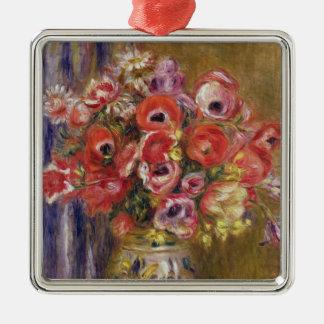 Pierre ein Renoir | Vase Tulpen und Anemonen Silbernes Ornament