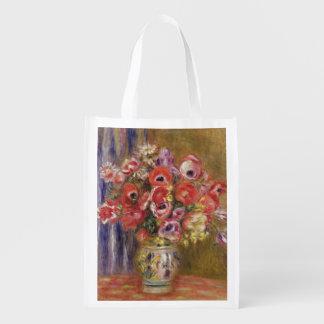 Pierre ein Renoir | Vase Tulpen und Anemonen Wiederverwendbare Einkaufstasche