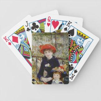 Pierre ein Renoir | zwei Schwestern oder auf der Bicycle Spielkarten