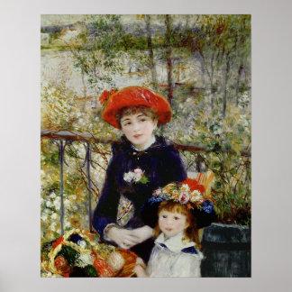Pierre ein Renoir | zwei Schwestern oder auf der Poster