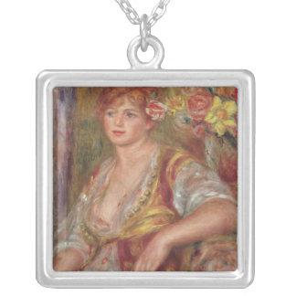 Pierre eine Renoir | blonde Frau mit einer Rose Versilberte Kette