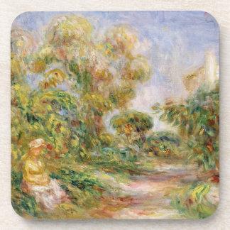 Pierre eine Renoir | Frau in einer Landschaft Untersetzer