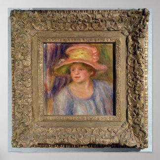Pierre eine Renoir   Frau mit einem Hut Poster