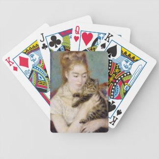 Pierre eine Renoir | Frau mit einer Katze Bicycle Spielkarten