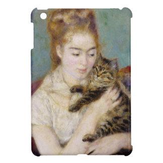 Pierre eine Renoir   Frau mit einer Katze Hülle Für iPad Mini