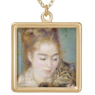Pierre eine Renoir | Frau mit einer Katze Vergoldete Kette