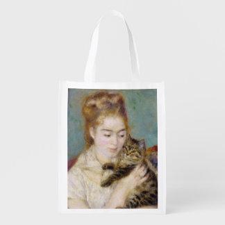 Pierre eine Renoir | Frau mit einer Katze Wiederverwendbare Einkaufstasche