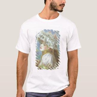 Pierre eine Renoir | junge Frau in einem Spitzehut T-Shirt
