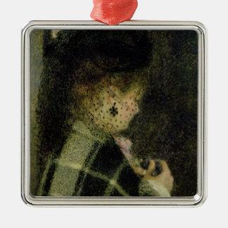 Pierre eine Renoir | junge Frau mit einem kleinen Quadratisches Silberfarbenes Ornament