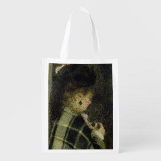 Pierre eine Renoir | junge Frau mit einem kleinen Wiederverwendbare Einkaufstasche