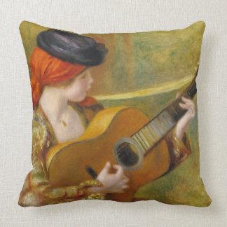 Pierre eine Renoir | junge spanische Frau mit Kissen