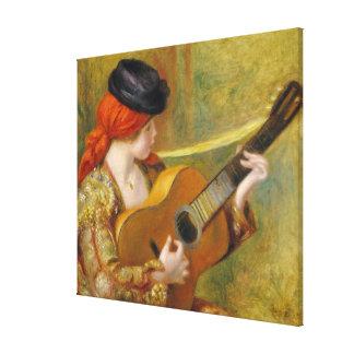 Pierre eine Renoir | junge spanische Frau mit Leinwanddruck