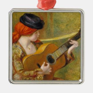 Pierre eine Renoir | junge spanische Frau mit Silbernes Ornament