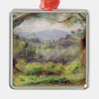 Pierre eine Renoir   Landschaft bei Les Collettes Silbernes Ornament