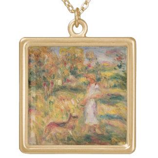 Pierre eine Renoir | Landschaft mit der Ehefrau Vergoldete Kette
