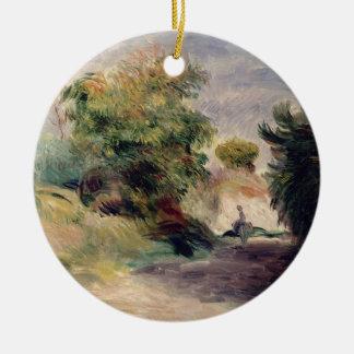 Pierre eine Renoir | Landschaft nahe Cagnes Keramik Ornament