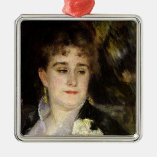 Pierre eine Renoir   Madame Georges Charpentier Quadratisches Silberfarbenes Ornament