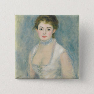 Pierre eine Renoir | Madame Henriot Quadratischer Button 5,1 Cm