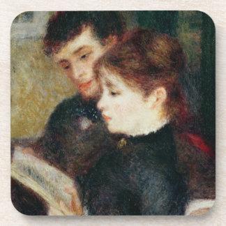 Pierre eine Renoir | Paar-Lesung Getränkeuntersetzer