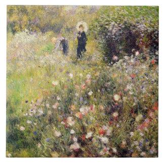 Pierre eine Renoir | Sommer-Landschaft Große Quadratische Fliese