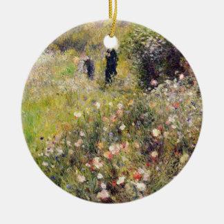 Pierre eine Renoir   Sommer-Landschaft Keramik Ornament