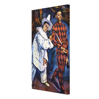 Pierrot und Harlekin, Karneval durch Paul Cezanne Leinwanddruck
