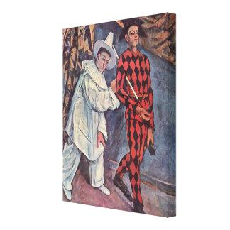 Pierrot und Harlekin Leinwanddruck