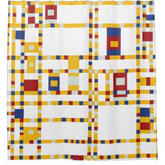 Piet Mondrian - Broadway-Boogie Woogie moderne Duschvorhang