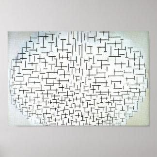 67 mondrian moderne kunst poster zazzle. Black Bedroom Furniture Sets. Home Design Ideas