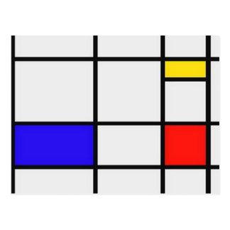 Piet Mondrian-moderne Kunst Postkarten
