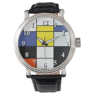 Piet Mondrian Zusammensetzung A - abstrakte Armbanduhr