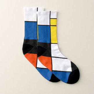 Piet Mondrian Zusammensetzung A - abstrakte Socken