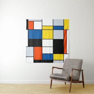 Piet Mondrian Zusammensetzung A - abstrakte Wandteppich
