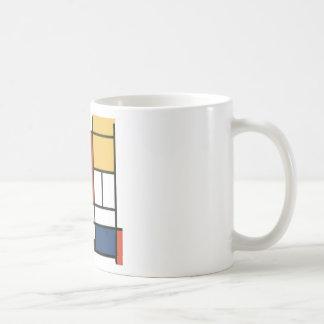 Piet Mondrian - Zusammensetzung Kaffeetasse