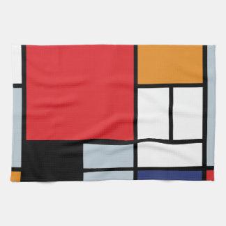 Piet Mondrian - Zusammensetzung mit großem rotem Handtuch