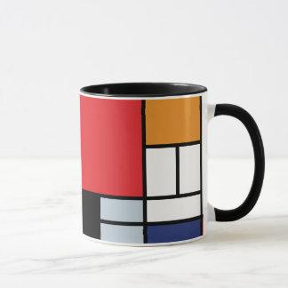 Piet Mondrian - Zusammensetzung mit großem rotem Tasse