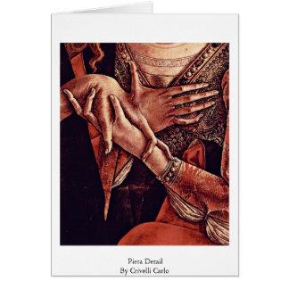 Pieta-Detail durch Crivelli Carlo Karte